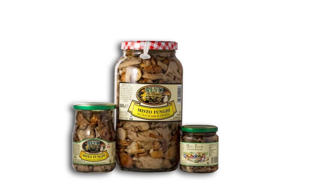 Nesti conserve alimentari sottoli, funghi, pomodori secchi, carciofi